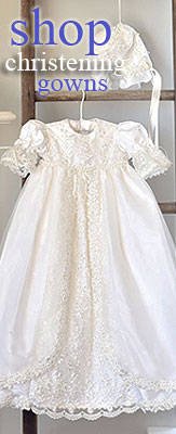 Christening Gowns and Baptism Dresses for Baby Girls