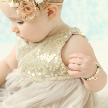A First Ring for Baby™ - 10K Yellow Gold Baby Band - Size 1 Baby Ring - BEST SELLER