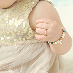 A First Ring for Baby™ - 10K Yellow Gold Baby Band - Size 1 Baby Ring/