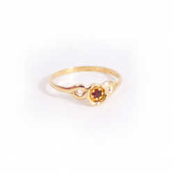 Child Birthstone Rings - 14k Yellow Gold Girls July Ruby Birthstone Ring - Size 3 1/2 - Perfect for Toddlers and Grade School Girls/