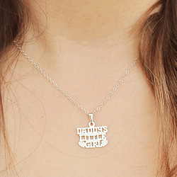 Daddy's Little Girl - Sterling Silver Rhodium Girl's Necklace - 15-inch chain included