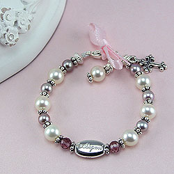 Sophisticated Baby with Grace™ by My First Pearls® – Grow-With-Me® designer original freshwater cultured pearl bracelet – Personalize with gemstones & charms /