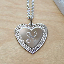 Message from the Heart™ by Adorable Engravables® - Build Your Own Custom Personalized Heart Birthstone Necklace - Sterling Silver Rhodium - with exclusive Grow-With-Me™ Chain