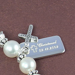 Treasured Memories Captured - Sterling Silver Small Rectangular Charm - Engravable on front and back - Add to a bracelet or necklace/