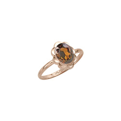 Girl's Birthstone Rings - 10K Yellow Gold Girls Synthetic Citrine Birthstone Ring - Size 5 1/2 - Perfect for Grade School Girls, Tweens, or Teens/