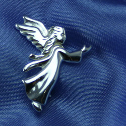 Guardian Angel - Sterling Silver Christening / Baptism / First Communion Pin/