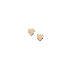 Tiny Gold Heart Earrings for Girls - 14K Yellow Gold Screw Back Earrings for Baby, Toddler, Child/