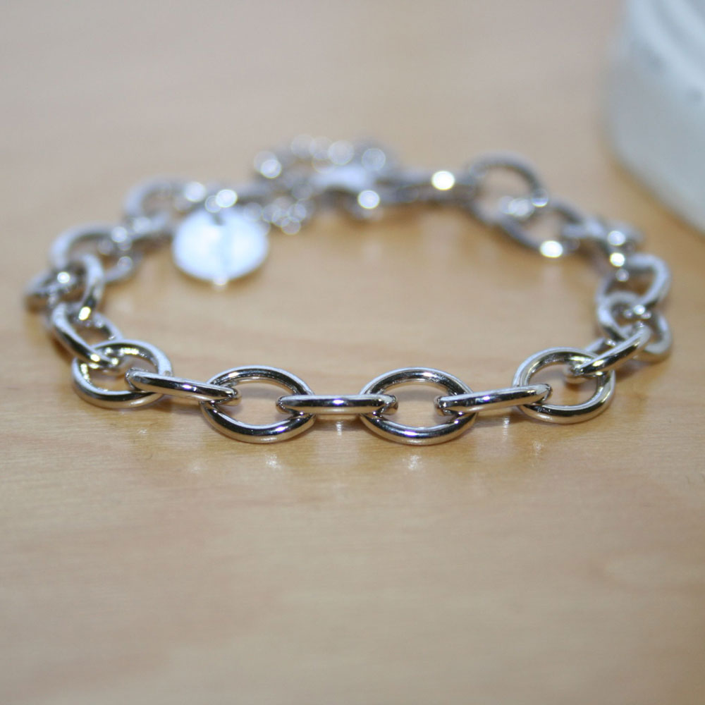 Sterling Silver Cable Chain Bracelet
