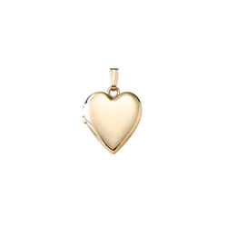 Beautiful Keepsakes - Girls 14K Yellow Gold 13mm Polished Heart Photo Locket - Engravable on front and back - 18