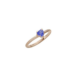 Beautiful Girl's Heart Birthstone Ring - September Birthstone - Synthetic Blue Sapphire - 10K Yellow Gold - Size 3½ Child Ring - BEST SELLER /