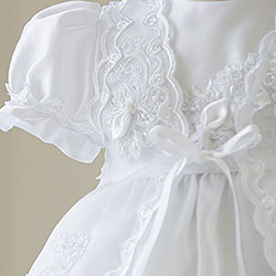 Brooke Avery Collection™ - Beautifully Appointed Christening Gown - Size Medium (6 - 12 months) - BEST-SELLING Baptism Dress/