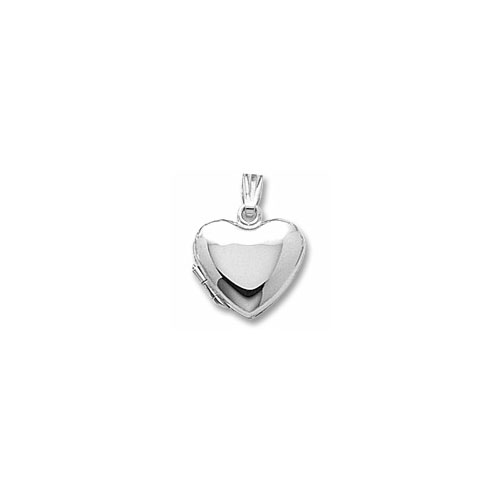 Rembrandt Sterling Silver Heirloom Heart Locket - Engravable on front and back - Add to a bracelet or necklace