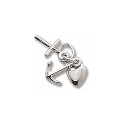 Rembrandt Sterling Silver Faith, Hope, Charity Charm (Small - Three Pieces) – Add to a bracelet or necklace/