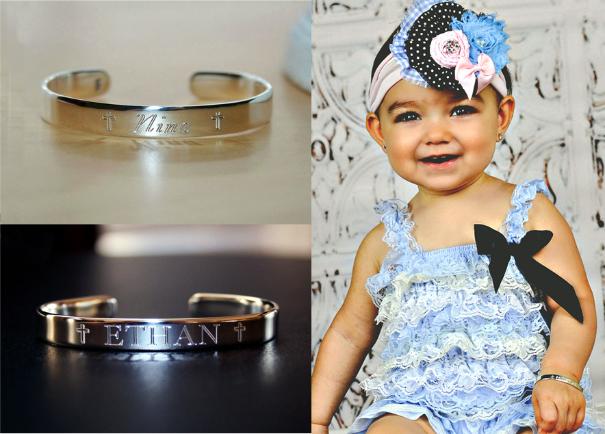 personalized baby cuff bracelet for their special day