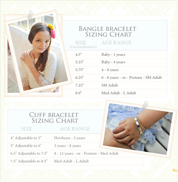 Grow-With-Me Bracelet Sizing Chart