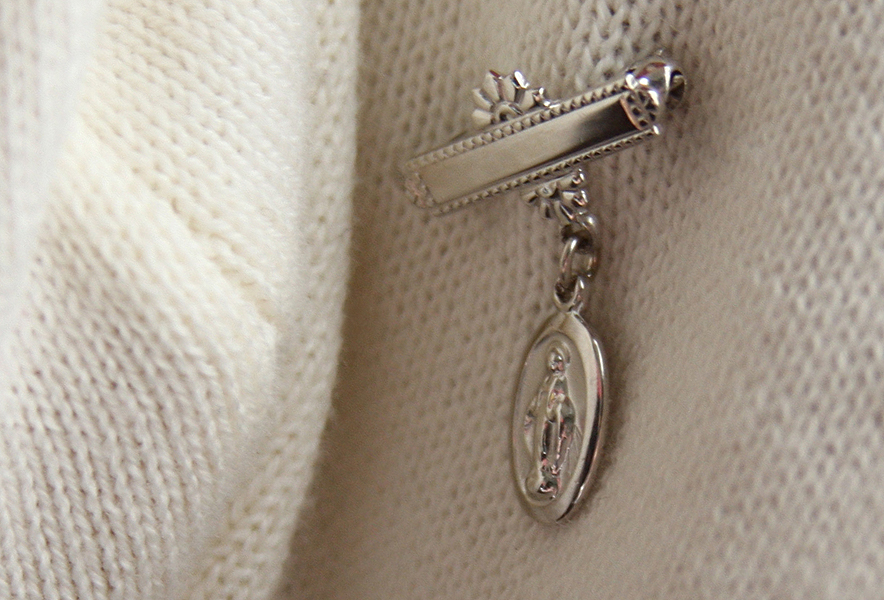 Christening and baptism pins for babies.