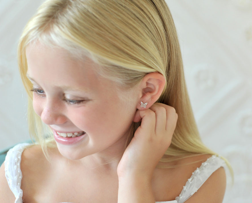 Childrens and babies screw back earrings