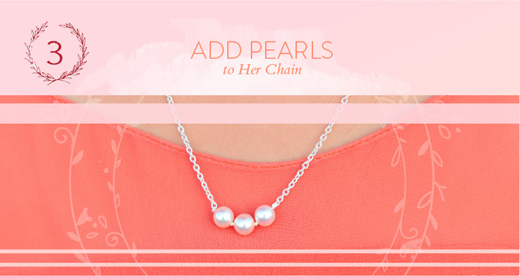 Step 2 - Add Pearls to Necklace