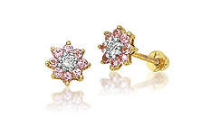 Disney 14k Gold Gemstone Earrings