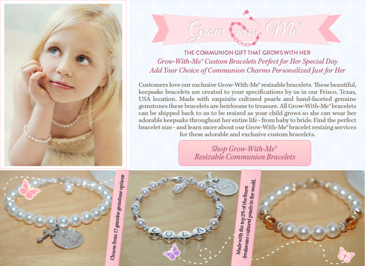 Grow With Me First Communion Bracelets buy BeadifulBABY