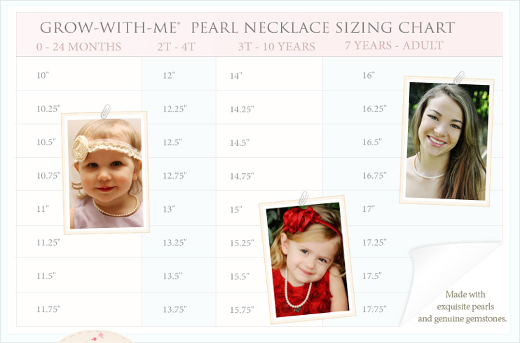Grow-With-Me Necklace Sizing Chart