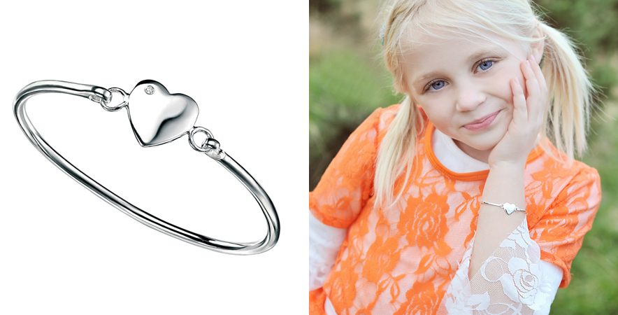 engraved childrens bangle bracelet