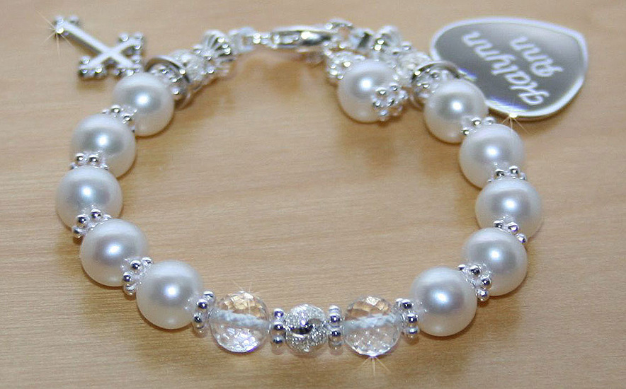 for her christening pearl baby bracelet