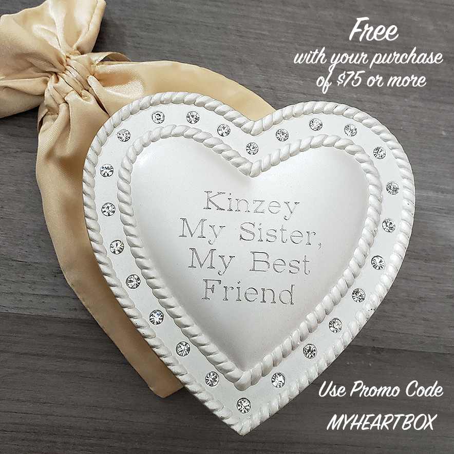 Free Personalized Jewelry Box with Purchase