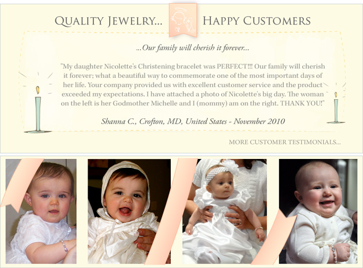 Quality Jewelry...Happy Customers...Read Customer Testimonials