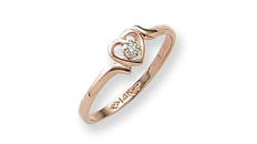 Heart shaped rings for girls