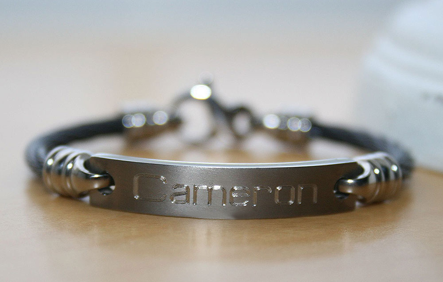 Titanium bracelets for boys.