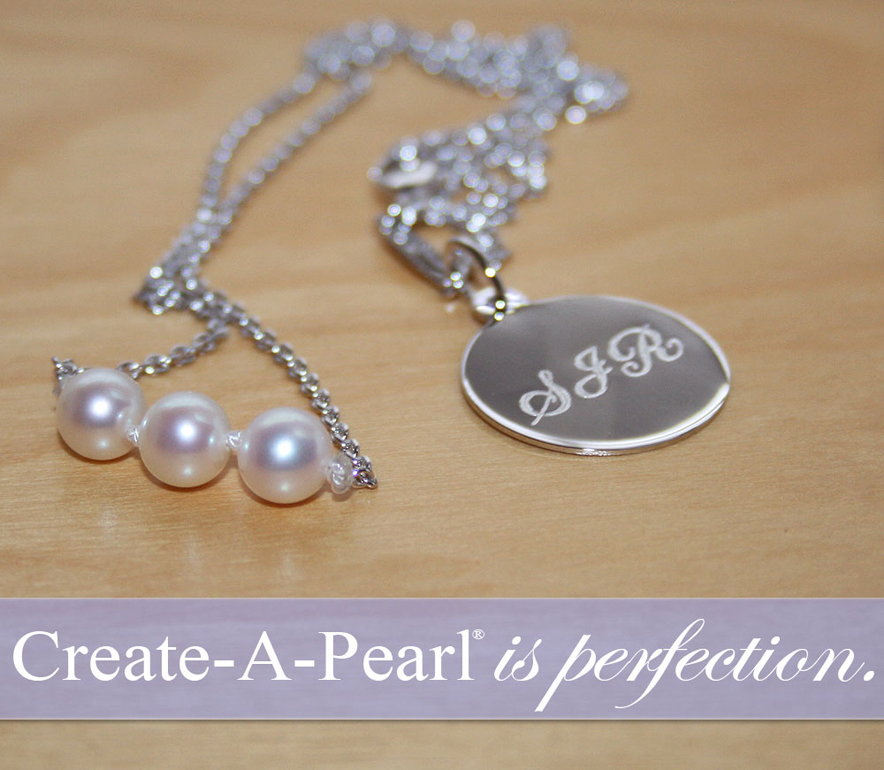 Personalized charms for Create-A-Pearl.