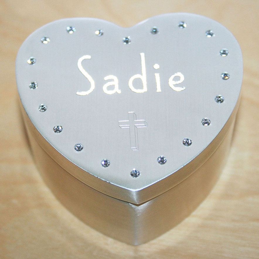 Personalized jewelry box for little girl.