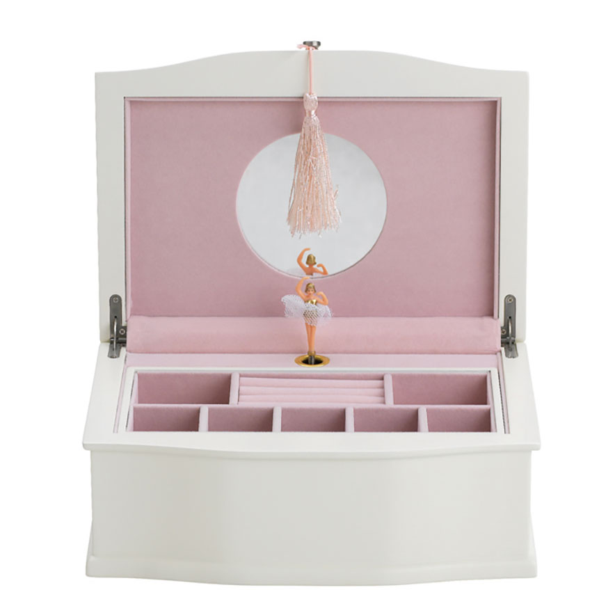 Wooden ballerina jewelry box.