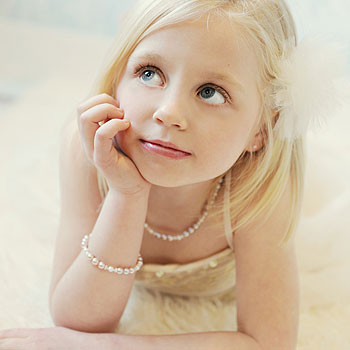 Lillian Grace - Baby / Little Girl Pearl Necklace