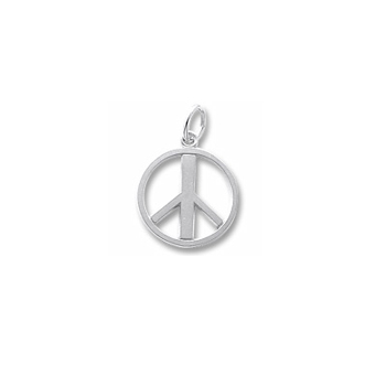 Rembrandt Sterling Silver Peace Sign Charm – Add to a bracelet or necklace