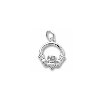 Rembrandt Sterling Silver Claddagh Charm – Add to a bracelet or necklace