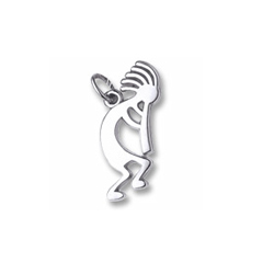 Rembrandt Sterling Silver Kokopelli Charm – Add to a bracelet or necklace/