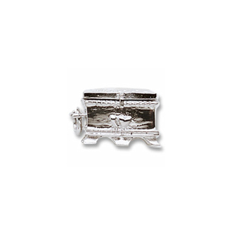 Rembrandt Sterling Silver Hope Chest Charm – Add to a bracelet or necklace
