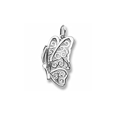 Rembrandt Sterling Silver Large Butterfly Charm – Add to a bracelet or necklace/