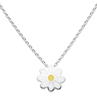 Daisy - Sterling Silver Rhodium Girls Flower Necklace - Includes 14-inch chain