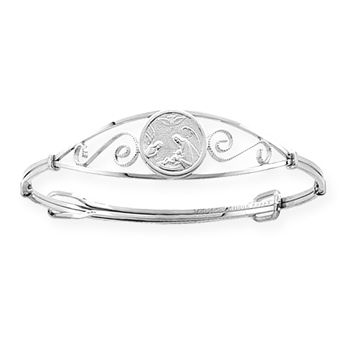 Guardian Angel Baby / Children's Christening Bangle Bracelet - Sterling Silver