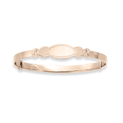 Keepsake Adjule Bracelets 14k Yellow Gold Bangle Bracelet Engravable On Front One