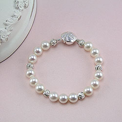 Baby / Little Girl Pearl Bracelet - Christening / First Communion/