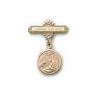 Guardian Angel -14K Yellow Gold Religious Christening Pin - Brooch Jewelry for Baby - BEST SELLER