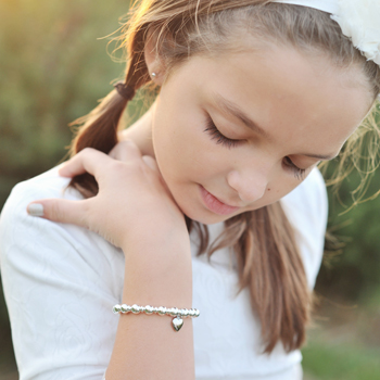 Katie Lane™– Grow-With-Me® designer baby bracelet – Sterling silver name baby bracelet – Personalize with birthstones & charms