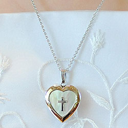 dp jewelry my prayer locket necklace communion com amazon first