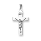 Boys Heirloom Crucifix - 14K White Gold Crucifix Cross  - 14K White Gold 20
