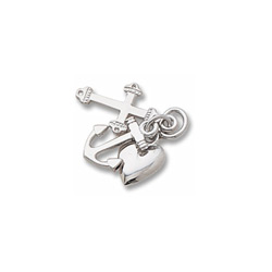 Rembrandt Sterling Silver Faith, Hope, and Charity Charm (Medium - Three Pieces) – Add to a bracelet or necklace - BEST SELLER/