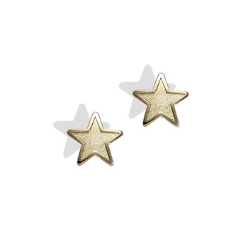 Gold Star Earrings for Girls - 14K Yellow Gold Screw Back Earrings for Baby, Toddler, Child